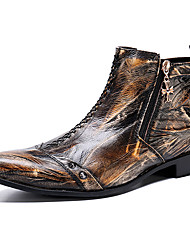 cheap -Men's Formal Shoes Nappa Leather Fall & Winter Casual / British Boots Warm Booties / Ankle Boots Brown / Party & Evening / Party & Evening / Fashion Boots / Combat Boots