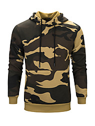 cheap -Men's Hoodie Winter Outdoor Camo Lightweight Breathable Quick Dry Top N / A Climbing Outdoor Exercise Multisport Army Green / Khaki