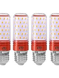 cheap -YWXLIGHT® 4PCS E27 16W 1200LM LED Globe Bulbs LED Candle Lights LED Corn Lights 80LED SMD 2835 Cold White Warm White 85-265 V Rose Gold