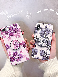 cheap -Case For Apple iPhone XS / iPhone XR / iPhone XS Max with Stand / Frosted Back Cover Flower Soft TPU