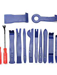 cheap -13Pcs Blue Trim Removal Tool Car Panel Door Audio Trim Removal Tool Kit Auto Clip Pliers Fastener Remover Pry Tool Set