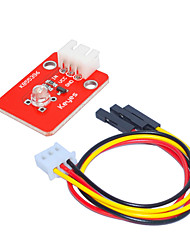 cheap -KY0039-1 Straw Hat LED Module (Red Plate) White Lamp White Terminal With 3pin Dupont Wire