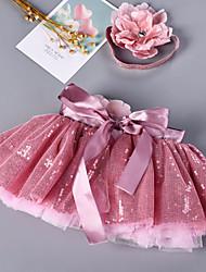 cheap -Petticoat Hoop Skirt Tutu Under Skirt 1950s Sequin Fuchsia Petticoat / Kid's / Crinoline