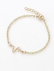 cheap -Women's Chain Bracelet Bracelet Geometrical Stylish Romantic Cute Elegant Alloy Bracelet Jewelry Black / Gold / Silver For Party Graduation School Going out