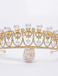 cheap -Crystal / Alloy Tiaras / Headpiece with Faux Pearl / Metal / Crystals / Rhinestones 1 pc Wedding / Birthday Headpiece