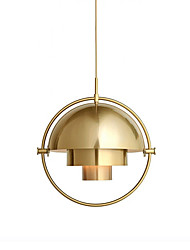 cheap -1-Light CONTRACTED LED® Globe Mini Novelty Pendant Light Downlight Electroplated Painted Finishes Metal Creative Adjustable 110-120V 220-240V