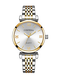 cheap -Women's Dress Watch Quartz Stainless Steel Silver / Gold / Rose Gold 30 m Shock Resistant Casual Watch Analog Digital Luxury Fashion - Gold / Silver Rose Gold Champagne One Year Battery Life