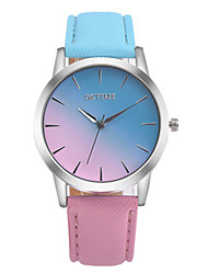 cheap -Couple's Wrist Watch Quartz Genuine Leather White / Pink / Pool 30 m Water Resistant / Waterproof Analog Fashion Colorful - Light Blue Pink One Year Battery Life / Stainless Steel