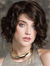 cheap -Synthetic Wig Curly Asymmetrical Wig Short Medium Brown / Dark Auburn Synthetic Hair 12 inch Women's Party Brown