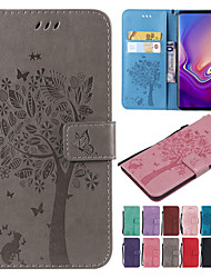 cheap -Case For Samsung Galaxy S9 / S9 Plus / S8 Plus Wallet / Card Holder / with Stand Full Body Cases Cat / Tree Hard PU Leather