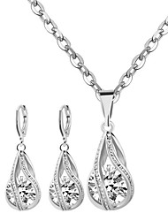 cheap -Women's Cubic Zirconia Bridal Jewelry Sets Drop Fashion Cute Oversized Rhinestone Earrings Jewelry Gold / Silver For Wedding Party 1 set