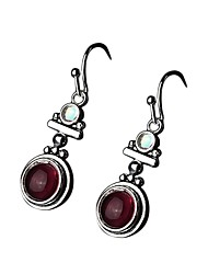 cheap -Women's Red Onyx Drop Earrings Chandelier Basic European Lolita S925 Sterling Silver Earrings Jewelry Red For Evening Party Masquerade Work 2pcs