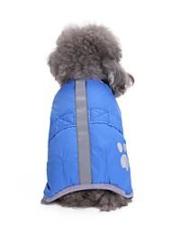 cheap -Dogs Coat Puffer / Down Jacket Winter Dog Clothes Orange Red Blue Costume Corgi Beagle Bulldog Terylene Solid Colored Casual / Daily Warm Ups XS M L XL XXL XXXL