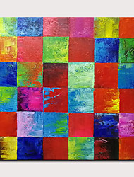 cheap -Oil Painting Hand Painted - Abstract Classic Modern Stretched Canvas