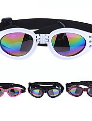 cheap -Dogs Sunglasses Dog Clothes Black White Red Costume Plastic Solid Colored Simple Casual / Sporty Adjustable