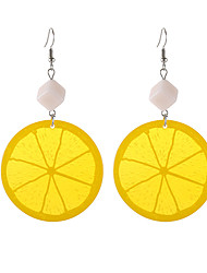 cheap -Women's Drop Earrings Fruit Tropical Trendy Fashion Earrings Jewelry Orange For Daily Going out 1 Pair