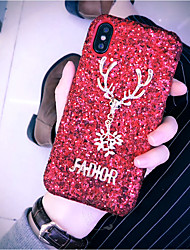 cheap -Case For Apple iPhone XS / iPhone XR / iPhone XS Max Glitter Shine Back Cover Solid Colored Hard Plastic