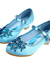 cheap -Girls' Flower Girl Shoes / Tiny Heels for Teens Satin Heels Toddler(9m-4ys) / Little Kids(4-7ys) / Big Kids(7years +) Rhinestone / Beading Silver / Blue Spring / Fall / Wedding / Party & Evening
