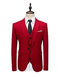 cheap -Tuxedos Tailored Fit / Standard Fit Notch Single Breasted One-button Wool / Polyester Stripes