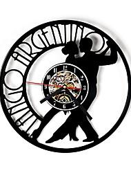 Недорогие -танго рисунок с виниловыми пластинками настенные часы