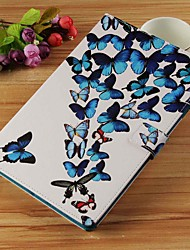 cheap -Case For Samsung Galaxy Tab S4 10.5 (2018) / Tab A2 10.5(2018) T595 T590 / Tab E 9.6 Wallet / Card Holder / with Stand Full Body Cases Butterfly Hard PU Leather