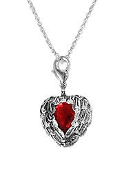 cheap -Women's Red Cubic Zirconia Pendant Necklace Chain Necklace Necklace Classic Heart Simple Unique Design Romantic Sweet Silver Plated Silver 46 cm Necklace Jewelry 1pc For Gift Daily Evening Party Date