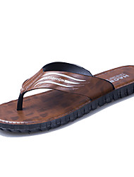 cheap -Men's Comfort Shoes PU Summer Casual Slippers & Flip-Flops Non-slipping Brown / Yellow