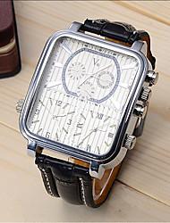 Недорогие -V6 Муж. Спортивные часы Нарядные часы Наручные часы Кварцевый Кожа Черный 30 m Ударопрочный Cool Аналоговый Роскошь Мода маскарадный - Черный Черно-белый Один год Срок службы батареи