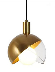 cheap -Novelty Pendant Light Ambient Light Antique Brass Metal Glass Creative 110-120V / 220-240V Warm White