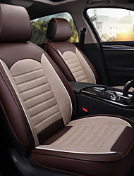 cheap -Four Seasons Universal Car Seat Cover Full cover for Five-seat car/PU leather and Linen material/airbag compatible/Adjustable and Removable/Family car/SUV