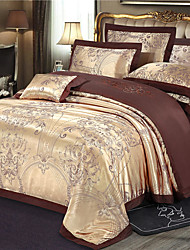cheap -Duvet Cover Sets Luxury / Contemporary Silk / Cotton Blend Jacquard 4 PieceBedding Sets