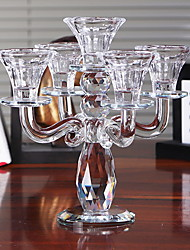 cheap -Modern Contemporary Glasses Candle Holders Candelabra 1pc, Candle / Candle Holder