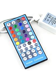 Недорогие -40KY RGB белый пульт дистанционного управления RGBW DC 12 В 24 В ИК-диммер полосы RGB белый для SMD 5050 5630 2835 светодиодные полосы света