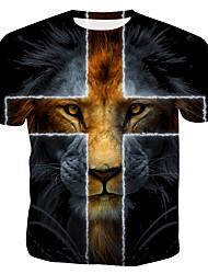 cheap -Men's T shirt Graphic Animal Print Tops Rainbow