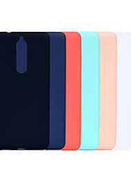 cheap -Case For Nokia Nokia 7 Plus / Nokia 6 / Nokia 6 2018 Ultra-thin / Frosted Back Cover Solid Colored Soft TPU