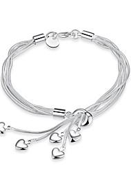 cheap -Women's Charm Bracelet Heart Tassel Alloy Bracelet Jewelry Silver For Daily