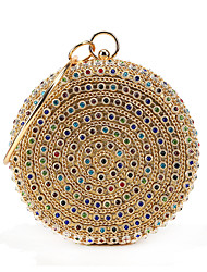 cheap -Women's Crystals / Glitter Polyester / Alloy Evening Bag Rhinestone Crystal Evening Bags Gold / Fall & Winter