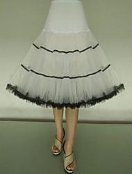 cheap -Petticoat Hoop Skirt Tutu Under Skirt 1950s Tulle Red / black Black / Red Black & White Petticoat / Crinoline