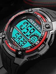 Недорогие -SKMEI Муж. Спортивные часы Цифровой Pезина Черный 50 m Защита от влаги Календарь Хронометр Цифровой На каждый день - Оранжевый Серый Красный