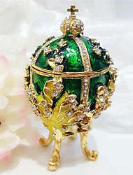 cheap -Jewelry Box Trinket Box Antique Jeweled Russian Czech Stones Alloy For Easter Egg Cosplay Easter Women's Costume Jewelry Fashion Jewelry