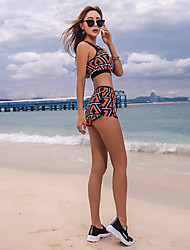 cheap -SANQI Women's Two Piece Swimsuit Neoprene Swimwear Breathable Quick Dry Short Sleeve Swimming Sexy Fashion Summer