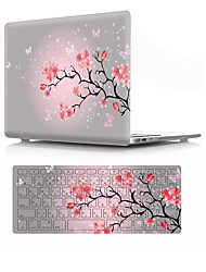 """cheap -MacBook Case with Protectors Flower PVC(PolyVinyl Chloride) for MacBook Air 13-inch / New MacBook Pro 15-inch / New MacBook Air 13"""" 2018"""