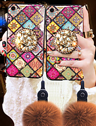 cheap -Case For Vivo Vivo Y67 / Vivo Y51 / Vivo Y35 Shockproof / Rhinestone Back Cover Rhinestone Soft TPU