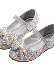 cheap -Girls' Comfort / Flower Girl Shoes PU Flats Toddler(9m-4ys) / Little Kids(4-7ys) Bowknot / Sequin / Sparkling Glitter Silver / Blue Spring / Fall / Party & Evening / Rubber