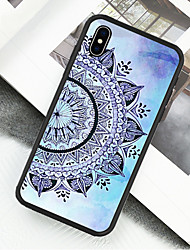 cheap -Case For Apple iPhone XS / iPhone XR / iPhone X Pattern Full Body Cases Mandala Hard Acrylic / Plastic