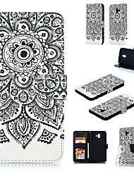 Недорогие -Кейс для Назначение SSamsung Galaxy Note 5 / Note 4 / Note 3 Кошелек Чехол Животное Твердый Кожа PU