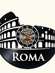 Недорогие -римские ажурные ручные виниловые пластинки часы декор спальни