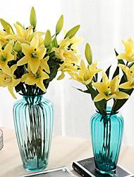 Недорогие -Искусственные Цветы 1 Филиал Классический Для вечеринки Свадьба Лилии Вечные цветы Букеты на стол