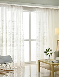 cheap -European Sheer One Panel Sheer Living Room   Curtains / Embroidery