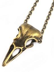abordables -Collier Pendentif Femme Classique Crâne Tete de Mort Rock Dorée Argent 60 cm Colliers Tendance Bijoux 1pc pour Carnaval